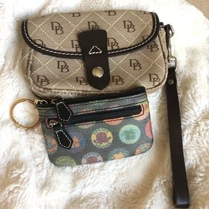 Dooney and Bourke Wristlet Wallet/Key Fob Bundle.